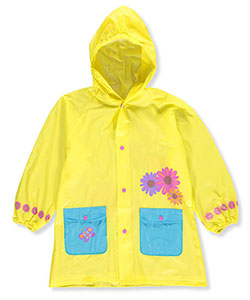 "Lilly New York Big Girls' ""Sunflower Trim"" Rain Jacket (Sizes 7 – 16) - CookiesKids.com"