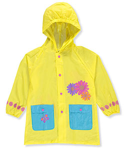 "Lilly New York Little Girls' Toddler ""Sunflower Trim"" Rain Jacket (Sizes 2T – 4T) - CookiesKids.com"