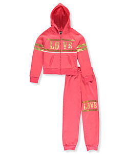 "Chillipop Big Girls' ""Style Goal"" 2-Piece Fleece Sweatsuit (Sizes 7 – 16) - CookiesKids.com"