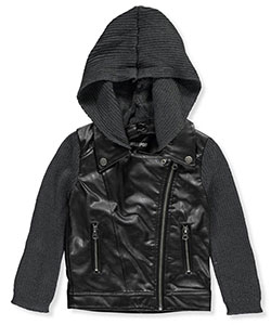"Chillipop Little Girls' ""Knit-Trimmed"" Jacket (Sizes 4 – 6X) - CookiesKids.com"