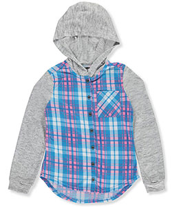 "Chillipop Little Girls' ""Sleepaway"" Hooded Top (Sizes 4 – 6X) - CookiesKids.com"
