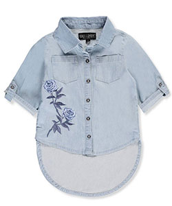 Chillipop Big Girls' Hi-Low Button-Down Top (Sizes 7 – 16) - CookiesKids.com