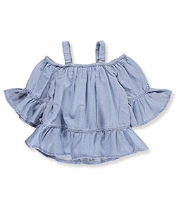 Chillipop Little Girls' Cold Shoulder Top (Sizes 4 – 6X) - CookiesKids.com