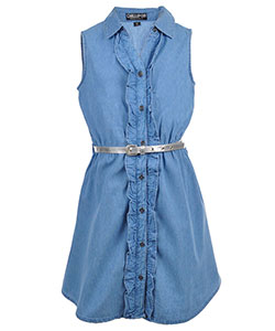 Chillipop Girls' Belted Shirt-Dress - CookiesKids.com