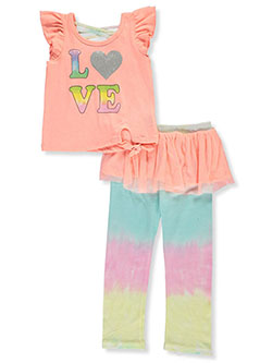 RMLA Girls Tie Dye and Glitter 2-Piece Shorts Set Outfit