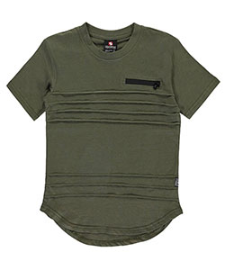 "Southpole Big Boys' ""Pleat & Zip"" T-Shirt (Sizes 8 – 20) - CookiesKids.com"