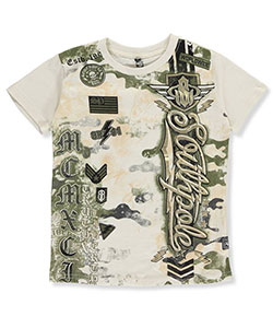"Southpole Little Boys' ""SP Worldwide"" T-Shirt (Sizes 4 – 7) - CookiesKids.com"