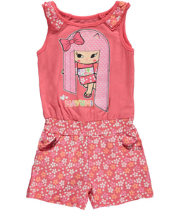 "Mayumi-Gumi Little Girls' Toddler ""Shimmering Hair"" Romper (Sizes 2T – 4T) - CookiesKids.com"