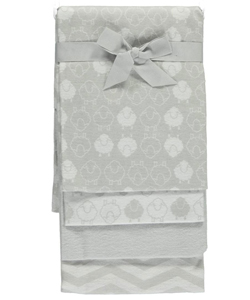 "Mary Jane & Buster ""Chevron Sheep"" 4-Pack Receiving Blankets - CookiesKids.com"