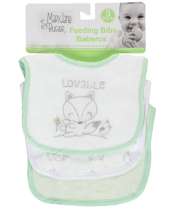 "Mary Jane & Buster ""So Lovable"" 3-Pack Bibs - CookiesKids.com"