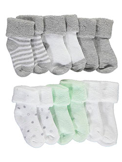 "Mary Jane & Buster Unisex Baby ""Heathered Prints"" 6-Pack Foldover Socks - CookiesKids.com"