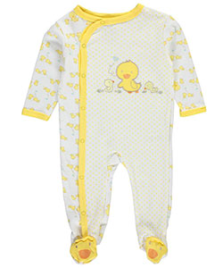"Weeplay Unisex Baby ""Duck Family"" Footed Coverall - CookiesKids.com"