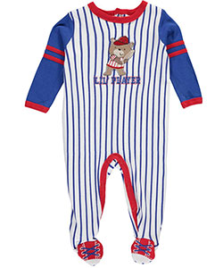 "Weeplay Baby Boys' ""Lil' Player"" Footed Coverall - CookiesKids.com"