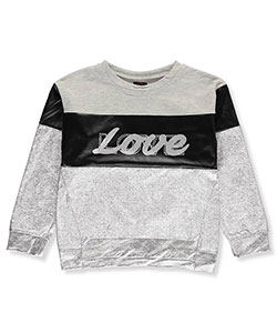 Material Girl Big Girls' Sweatshirt (Sizes 7 – 16) - CookiesKids.com