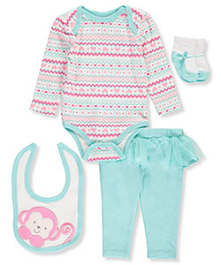 Buster Brown Baby Girls' 4-Piece Layette Set - CookiesKids.com
