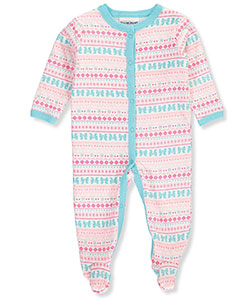 Buster Brown Baby Girls' Quilted Jersey Footed Coverall - CookiesKids.com
