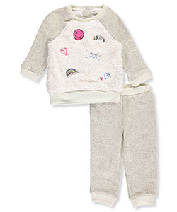 Buster Brown Baby Girls' 2-Piece Knit Sweatsuit - CookiesKids.com