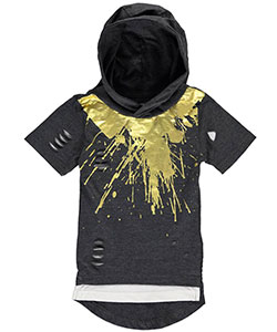 "Encrypted Little Boys' ""Metallic Splash"" Hooded T-Shirt (Sizes 4 – 7) - CookiesKids.com"