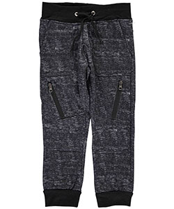 "Encrypted Little Boys' ""Rib Panel"" Joggers (Sizes 4 – 7) - CookiesKids.com"