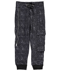 "Encrypted Little Boys' ""Side Zip"" Joggers (Sizes 4 – 7) - CookiesKids.com"