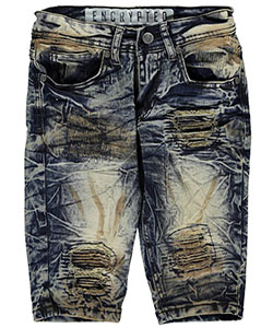 "Encrypted Big Boys' ""Marked & Ribbed"" Denim Shorts (Sizes 8 – 20) - CookiesKids.com"