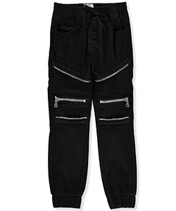 Encrypted Little Boys' Brushed Twill Joggers (Sizes 4 – 7) - CookiesKids.com