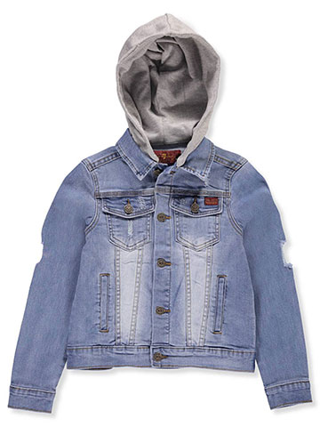 7 for All Mankind Boys' Hooded Denim Jacket - CookiesKids.com