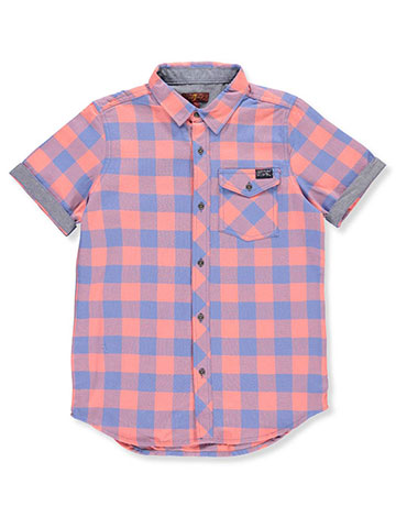7 for All Mankind Boys' S/S Button-Down Shirt - CookiesKids.com