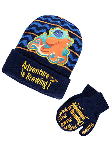 "Disney Finding Dory ""Adventure Is Brewing"" Beanie & Mittens Set (Toddler One Size) - CookiesKids.com"