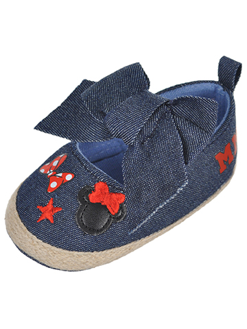 "Minnie Mouse Baby Girls' ""Chambray Icon"" Espadrille Booties - CookiesKids.com"