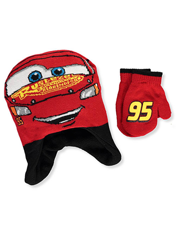 Disney Cars Boys' Beanie & Mittens Set (Toddler One Size) - CookiesKids.com