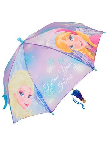 Disney Frozen Umbrella Featuring Anna & Elsa - CookiesKids.com