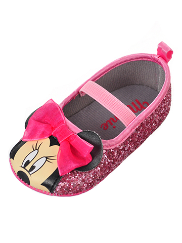 Disney Minnie Mouse Baby Girls' Ballet Flat Booties - CookiesKids.com