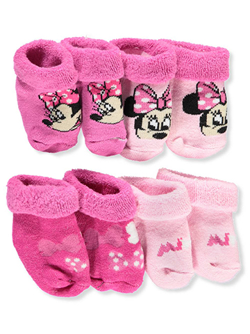 Minnie Mouse Baby Girls' 4-Pack Booties - CookiesKids.com