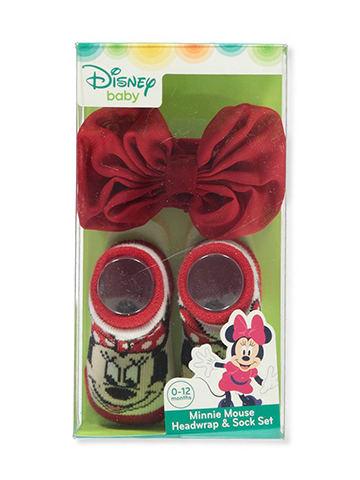 Minnie Mouse Baby Girls' Headwrap & Socks Set - CookiesKids.com