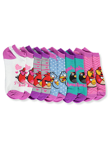 Angry Birds Girls' 5-Pack Low-Cut Socks (Sizes 6 – 8.5) - CookiesKids.com