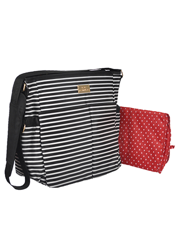 "Baby Essentials ""Simple Stripes"" Diaper Tote Bag with Changing Pad - CookiesKids.com"
