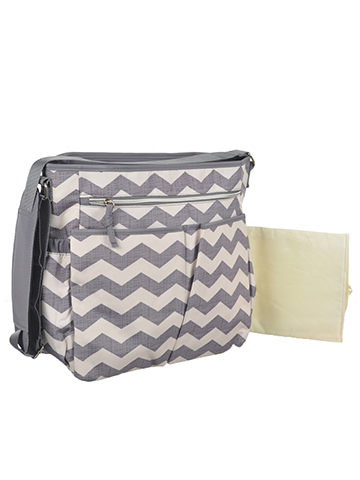 "Baby Essentials ""Zigzag Vibrations"" Diaper Tote Bag with Changing Pad - CookiesKids.com"
