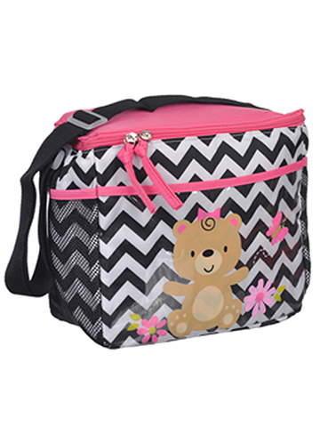 "Tender Kisses ""Teddy Bear Zigzag"" Bottle Bag - CookiesKids.com"