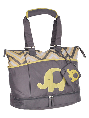 "Baby Essentials ""Chevron Elephant"" 5-Piece Diaper Bag Set - CookiesKids.com"