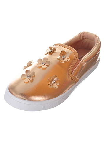 Nicole Miller Girls' Slip-On Sneakers (Sizes 10 - 4) - CookiesKids.com