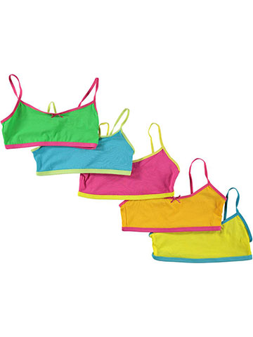 "Sweet n Sassy ""Little Bow"" 5-Pack Training Bras (Sizes 30A – 34B) - CookiesKids.com"