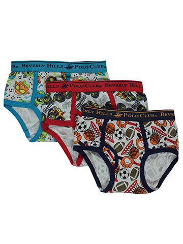 Beverly Hills Polo Club Little Boys' Toddler 3-Pack Briefs (Sizes 2T – 4T) - CookiesKids.com