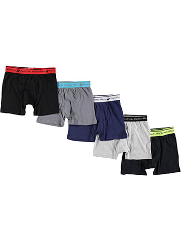 Beverly Hills Polo Club Big Boys' 5-Pack Boxer Briefs (Sizes 8 – 20) - CookiesKids.com