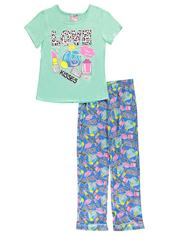 "Sweet N Sassy Big Girls' ""Perfume Kiss"" 2-Piece Pajamas (Sizes 7 – 16) - CookiesKids.com"
