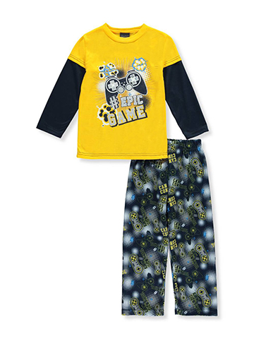 "Quad Seven Little Boys' ""Epic Game"" 2-Piece Pajamas (Sizes 4 – 7) - CookiesKids.com"