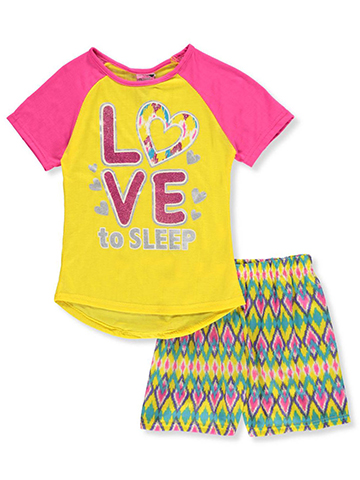 "Sweet n Sassy Big Girls' ""Chevron Wave"" 2-Piece Pajamas (Sizes 7 – 16) - CookiesKids.com"