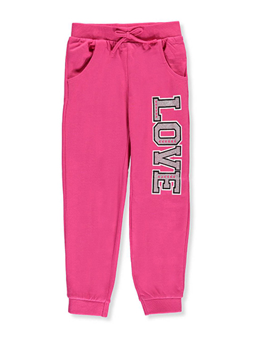 "Real Love Joggers Little Girls' ""Love Glitter"" Joggers (Sizes 4 – 6X) - CookiesKids.com"