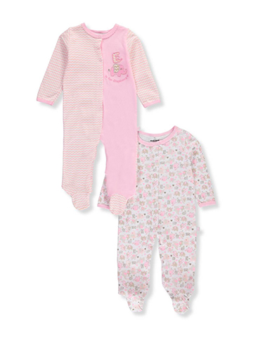 Duck Duck Goose Baby Girls' 2-Pack Footed Coveralls - CookiesKids.com