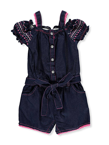 Real Love Baby Girls' Cold Shoulder Romper - CookiesKids.com